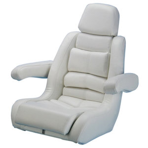 5-Star Flip-Up Helm Seat, White
