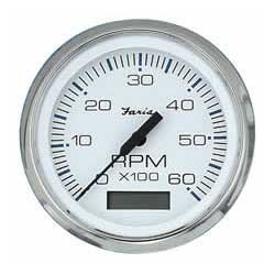 faria instruments chesapeake white ss series tachometer. Black Bedroom Furniture Sets. Home Design Ideas