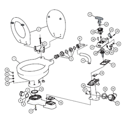 West Marine and Jabsco Service Kits and Parts for Manual Toilets