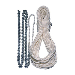 "Pre-Spliced Anchor Rode, 5' of 1/4"" Chain, 100' of 1/2"" Three-Strand Line"