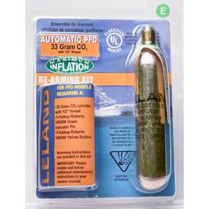 "Inflatable Life Jacket V85000 Rearming Kit, Automatic, 33 g., 1/2"" Threaded"