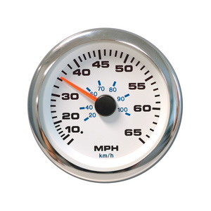 White Premier Pro Speedometer Kit, 65 mph