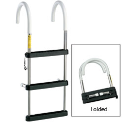Telescoping Stainless-Steel Hook Ladders