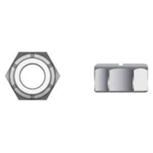 1/4-20 316 Stainless Steel Nylon Insert Locknuts, 100-Pack