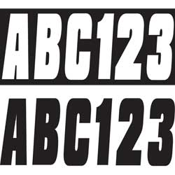 "3"" Letter/Number Kit, Black"