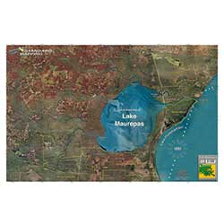 Lake Maurepas, Louisiana Laminated Map
