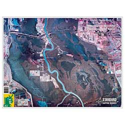 Sherburne, Louisiana Laminated Map