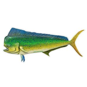 Mahi Profile Fish Decal