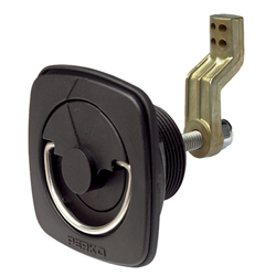 Flush Lock & Latch for Smooth or Carpeted Surfaces