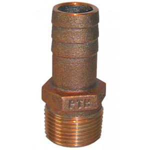 "PTH, Straight Standard Flow Bronze Fitting, 1 1/2"" Pipe x 1 1/2"" NPT"