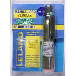 "Inflatable Life Jacket Rearming Kit, Manual, 33 g., 1/2"" Bayonet"