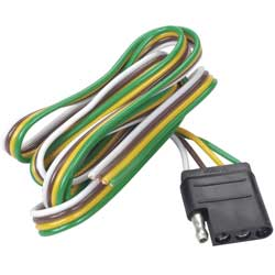 trailer electrical wiring west marine trailer light connector 4 pin flat vehicle connector 48 tow end