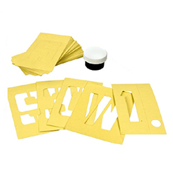 Inflatable Boat Lettering/Numbering Stencil Kits