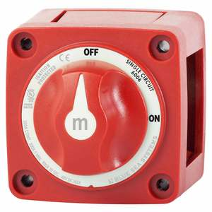 m-Series Mini Single Circuit ON/OFF Battery Switch with Removable Knob