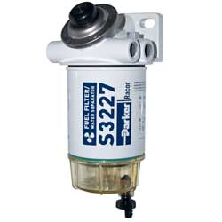 490R-RAC-01 Spin-On Series Fuel Filter/Water Separator with Clear Bowl