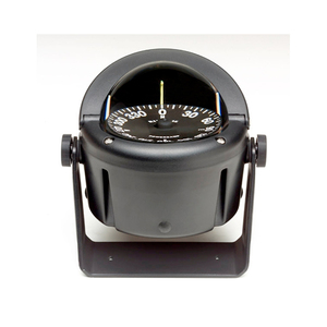 "Bracket-Mount Helmsman Compass, 3-3/4"" PowerDamp Flat Dial, Black"