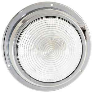 "5 1/2"" Dome Light with Three-Position Switch, White/Red"
