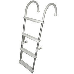 18017 GARELICK FOLD-DOWN TRANSOM LADDER FOR SMALL BOATS 2 STEP