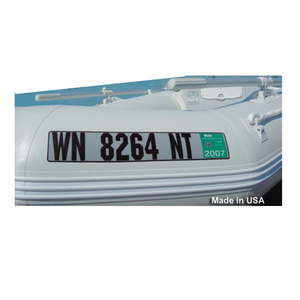 Inflatable Boat Custom Number Plate Set