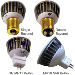 G4 MR11 MR16 Bayonet LED Replacement Bulbs