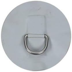 Medium Replacement Patch D-Ring for AL-290 Inflatable Hypalon Sport Boat, Light Gray