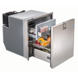 Drawer 65 Stainless Steel Refrigerator with Freezer Compartment - AC/DC, 4-Sided Stainless Steel Flange
