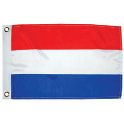 "Netherlands Dyed Courtesy Flag, 12"" x 18"""