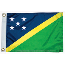 "Solomon Island Courtesy Flag, 12"" x 18"""