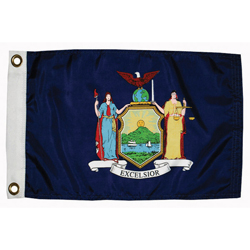 "New York State Flag, 12"" x 18"""