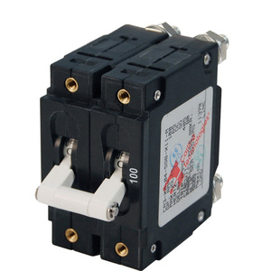 C-Series Double Pole White Toggle Circuit Breakers