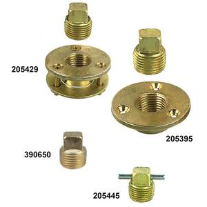 """BOAT MARINE Chrome Plated Brass Garboard Drain Plug Pipe Size 1//2/"""""""