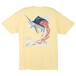c7c5a82b Clearance Men's Star-Spangled Guy Tee. YELLOW. GUY HARVEY
