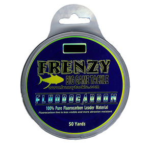 Frenzy Fluorocarbon Leader, Clear, 50 yds.