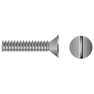 Stainless Steel Slotted Flat-Head Machine Screws