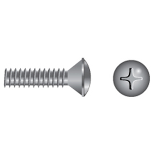 Stainless Steel Phillips Oval-Head Coarse Thread Machine Screws