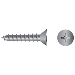 Stainless Steel Phillips Flat-Head Tapping Screws