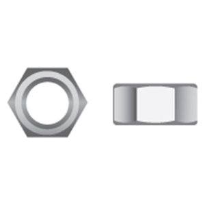 Stainless Steel Hex Nuts, 100-Packs