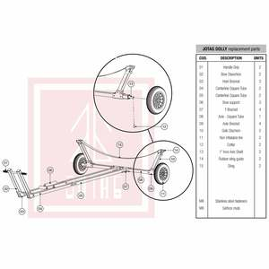 Replacement Parts for 420 Class Sailboat Dolly