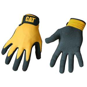 Yellow Nylon Gloves with Nitrile Palm