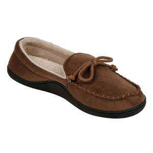 ISOTONER Memory Foam 3M Thinsulate Brown Men's Casual Slipper Shoes