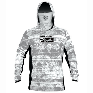 Men's Exo-Tech Hooded Shirt Coral Camo Print