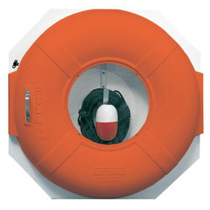 Life Ring Safety Station with 100' Throw Line