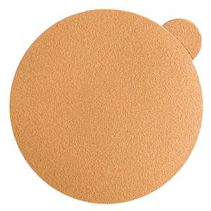 "Sandpaper-Gold, 6"" No-Hole PSA Disc"