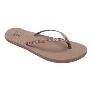 Women's Slim Ginger Beaded Flip-Flop Sandals. DUSTY BROWN. REEF