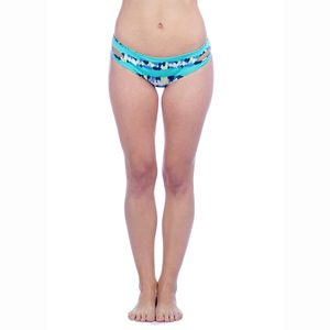 Women's Tie Dye Strappy Surf Cut Hipster Bikini Bottoms