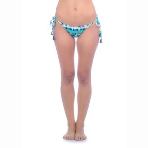 Women's Island Rhythm Tie Dye Stripe Tie Side Bikini Bottoms