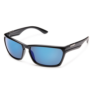 c9aa811273 Men s Cutout Polarized Sunglasses. BLACK BLUE. SUNCLOUD
