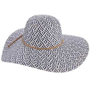 Women's Big-Brim Paper Braid Hat