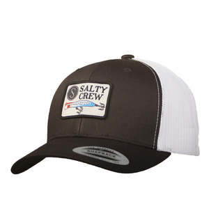 reputable site 192c2 e4d96 Men s Popper Retro Trucker Hat. BLACK WHITE. SALTY CREW
