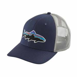 955a656cafea3 Men s Fitz Roy Trout Trucker Hat. CNDGRIC NAVY DRIFTER GREY. PATAGONIA